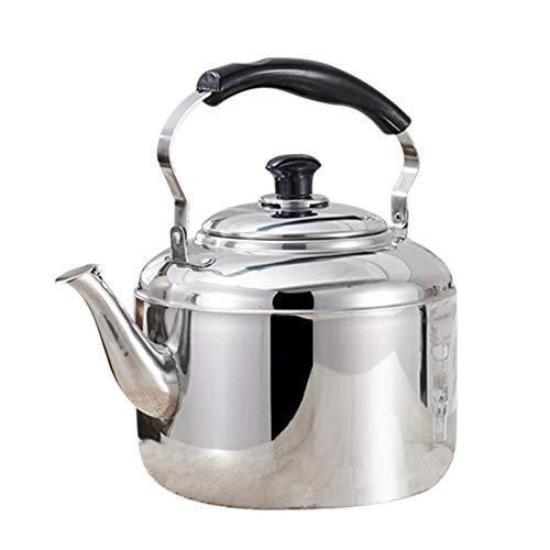 Hervidor de Acero Inoxidable con silbido, hervidor de té, café, Cocina, Estufa de inducción para el hogar, Cocina, Camping, Picnic, 4 l, para el hogar, la Oficina, al Aire Libre