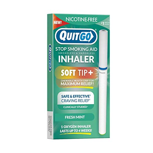 Quit Smoking Aid Oxygen Inhaler + Soft Tip Chewable Filter to Help Curb Cravings, Nicotine Free Non-Addictive Stop Smoking Support & Oral Fixation Relief (1 Pack, Fresh-Mint)