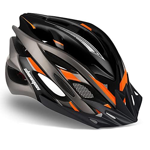Shinmax Fahrradhelm CE-Zertifikate Fahrradhelm für Herren Damen Unisex MTB Fahrradhelme mit Visier Fahrrad Helm Erwachsenen Fahrradhelm mit LED Rücklicht Mountainbike Helm Radhelm Rennradhelm 57-62cm