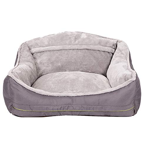 Pet Sofa Nest, Nesting Style Pet Bed, Extra Comfy Cotton Padded Cushion And Non Slip Bottom, Warm High Back Pet Nest (Gray),Gray,XL