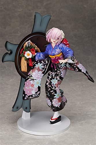 Liiokiy Anime Figura Fate/Grand Ordine Kimono Matthew Kyrielite Shielder Mash Kyrieloight Figura de acción Modelo Hecho A Mano Modelo de Animación Personaje Modelo Arte Estatuas Juegos Anime 2