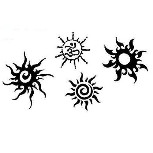 Creative/hommes sexy et femmes tatouage temporaire étanche Autocollants Sun