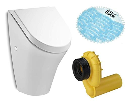 VBChome Urinal Roca Nexo mit Absenkautomatik-Deckel Zulauf von hinten VIEGA Ablauf waagerecht