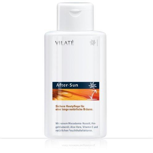 Vilate After-Sun Hautschutz! Kühlt und regenriert die Haut nach dem Sonnenbad. Mit viel Aloe-Vera Gel. Inhalt 250 ml