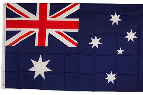 SCAMODA Bundes- und Länderflagge aus wetterfestem Material mit Metallösen (Australien) 150x90cm