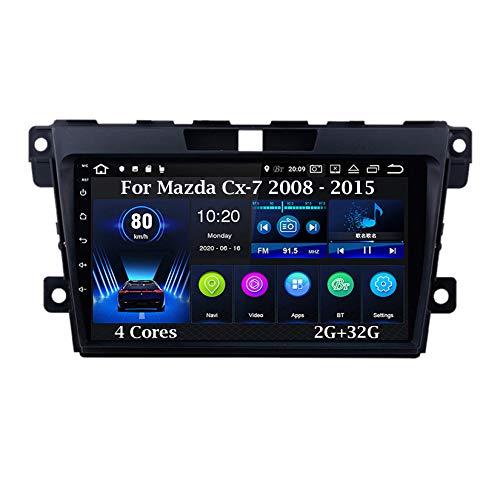 Android 10 9 Pulgadas Coche Radio De Coche GPS Navegación para Mazda Cx-7 cx7 cx 7 2008 - 2015 4 Cores 2G+32G Pantalla Tactil para Coche Accesorios De Coche Conecta Y Reproduce Car Audio Player