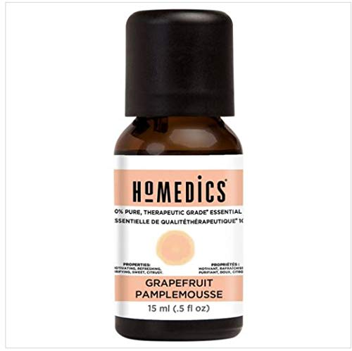 HoMedics Aromatherapy Therapeutic Grade Grapefruit Essential Oil for a Diffuser