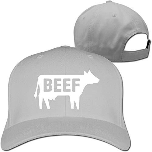 Beef Women Men Baseball Hat Hip Hop Casquette Adjustable,Gray,One Size