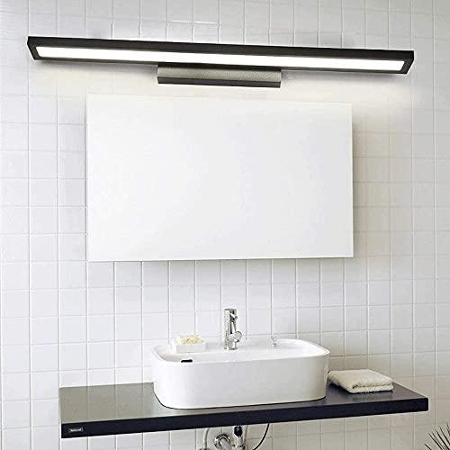Wlnnes Lámpara de pared de baño de aluminio, a prueba de agua SIET 8W LED luz delantera, anti-niebla de baño Iluminación frontal para el gabinete de espejo Cocedor de lavabo. (Color : 6000k)