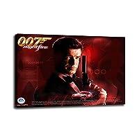 007ボンドキャンバスペインティングアートプリントポスターピクチャーウォールモダンベッドルームリビングルームデコレーション30x45cm(12x18inch)内枠