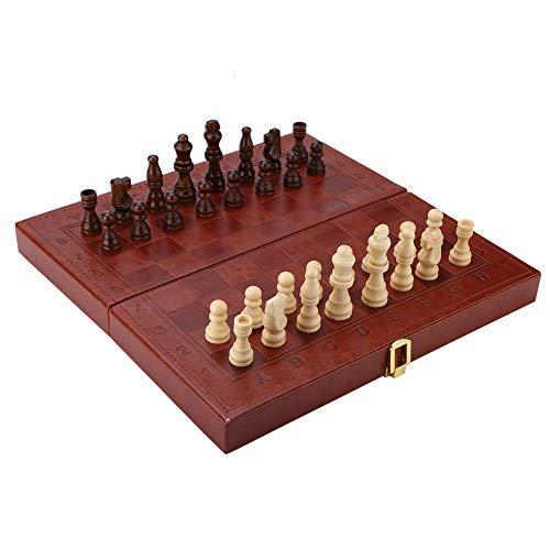 Tablero de ajedrez Set Chess Damas portátiles con diseño de tablero plegable...