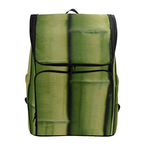 Bright Green Bamboo Big Bookbags College Bags For Women Bookbags For Kids Best Daypack Fits 15.6 Inch Laptop And Notebook Travel Cooler Bag Bag College Women