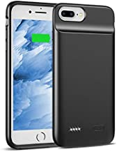Swaller Upgraded Battery Case for iPhone 8 Plus 7 Plus 6/6s Plus, 5000mAh Slim Charging Case Extend 120% Battery Life, Portable Charger Case Compatible iPhone 8P/7P/6P/6SP (Black)