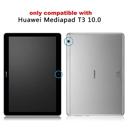 Bspring Huawei Mediapad T3 10 Hülle Case - Ultra Dünn Superleicht Flip Schutzhülle mit Zwei Einstellbarem Standfunktion für Huawei MediaPad T3 (9,6 Zoll) Tablet-PC,Hirsch - 2