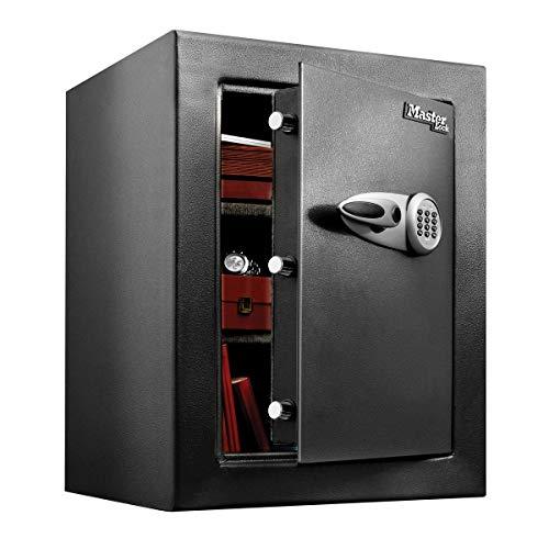 Master Lock T8-331ML Caja Fuerte de Alta Seguridad 119,9 l [combinación Digital] [XL] -Gran Capacidad de almacenaje para Guardar artículos valiosos, Negro