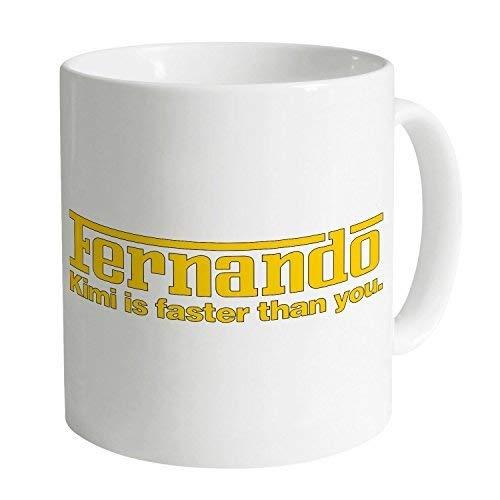 N\A Tazas Divertidas Tazas de café Taza Kimi vs Fernando