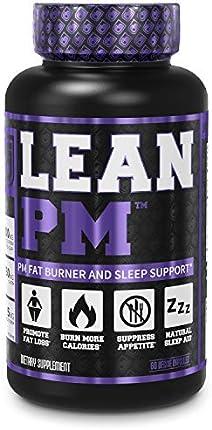 LEAN PM - Quemador de grasa nocturno, suplemento para dormir y supresor del apetito para hombres y mujeres