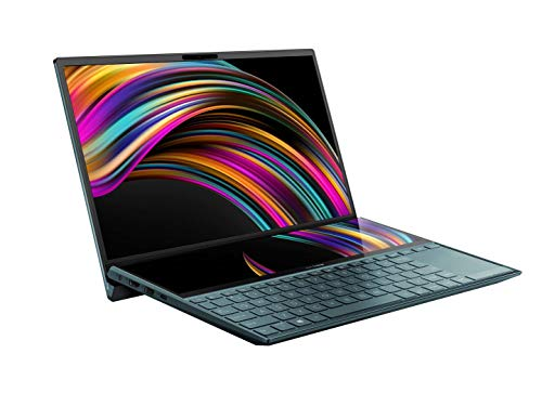 """ZenBook PRO DUO UX482EG-HY067R 14"""" FHD Intel® Core™ i7-1165G7 16 GB DDR4, MX450 2gb, 512 GB SSD, Wi-Fi 6 (802.11ax) Windows 10 PRO, screenpad plus 12"""", peso 1,5 kg"""