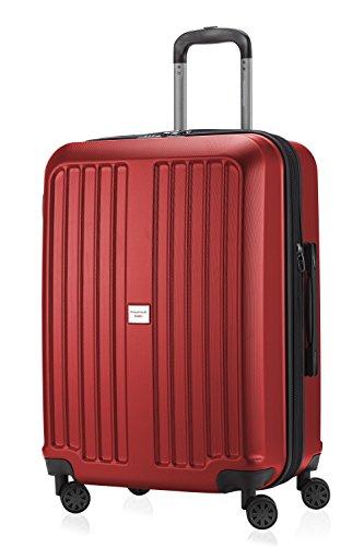 HAUPTSTADTKOFFER X-Berg - Valigia Rigida, Trolley medio ABS, TSA, Taglia 65 cm, 90 Litri, Rosso