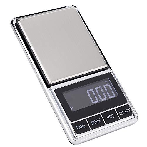 Báscula de joyería, 200 g/0.01 g Peso de joyería electrónico Báscula digital Mini báscula portátil de alta precisión Gramo para joyas, monedas, etc