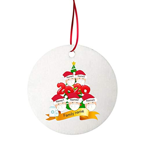 10pcs White Ornaments, 2020 New Christmas Tree Decoration Lightweight Pendant Faceless Old Man Pendant
