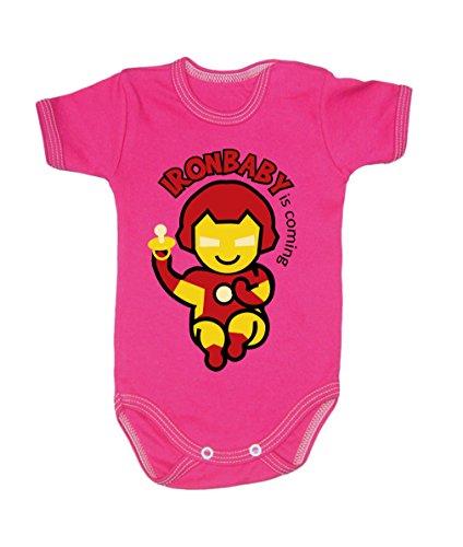 Couleur Mode Ironman bodies bébé 0–24 mois rose 0-3 months, 62cm