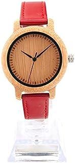 JINN-Women's Watches - Fashion Brand BOBO BIRD Watches Women 3 Colors Pu Leather Band Bamboo Watch Quartz Wristwatches rel...