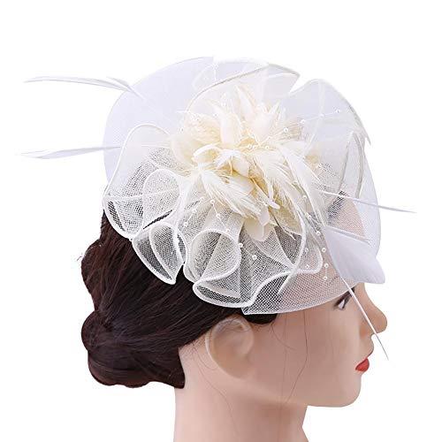 Fancylande Dames Bruidshelm met hoed en haarclip voor dames