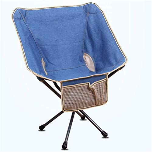 yunyu Tragbarer Rucksack für den Außenbereich Mini-Rückenlehne Fishing Moon Chair Director Skizzieren Lazy Beach Camping Chair, packbarer ultraleichter Rucksack
