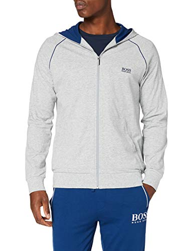 BOSS Herren Mix&Match Jacket H Sweatshirt, Light/Pastel Grey54, XL