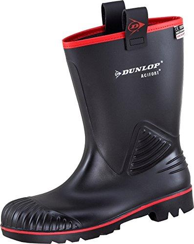 Dunlop 45567 Gummistiefel S5 Acifort Rocker schwarz, mit Futter (45, Gummistiefel)