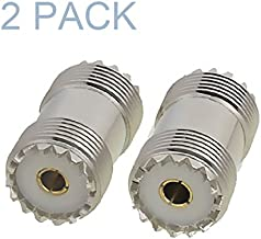 Maxmoral 2-Pack PL-259 UHF Female to UHF Female Coax Cable Adapter S0-239 UHF Double Female Connector Plug