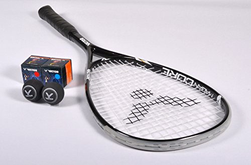 VICTOR Squashschläger Set Magan Core, 1 Racket / 2 Bälle