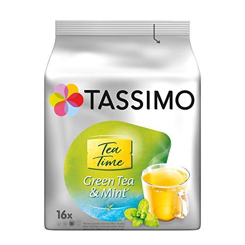 Tassimo Kapseln Tea Time Grüner Tee mit Minze, 5er Pack (5 x 16 Getränke)