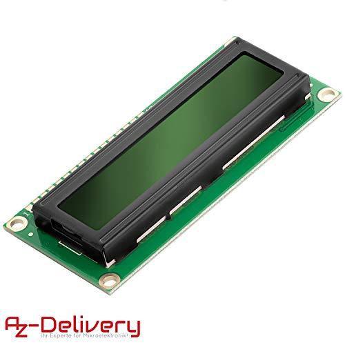 AZDelivery HD44780 1602 LCD Modul Display Grün 2x16 Zeichen kompatibel mit Arduino inklusive E-Book!
