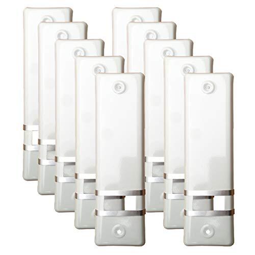 10x Rolladengurt Abdeckung Gurtwicklerblende   Weiß   160mm   Ohne Gurtausbau