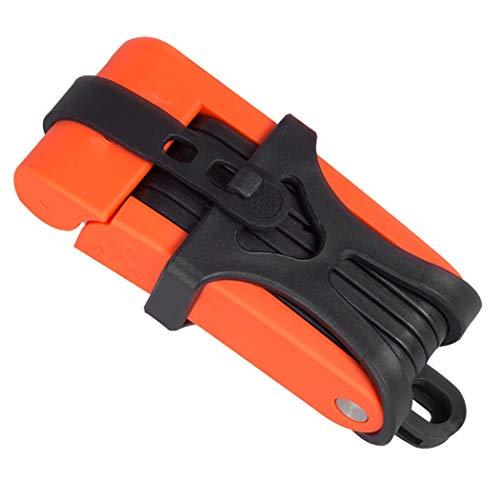 HONGNA Fahrrad-Diebstahlsicherung Faltbare Anti-Hydraulik-Schere Autoschloss Fahrrad-Diebstahlsicherungsringschloss Verletzt Den Rahmen Nicht Automatische Reparatur 。 (Farbe : Orange)