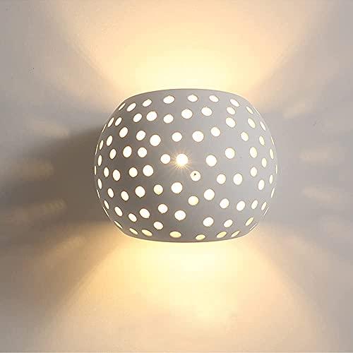 Lámpara de Pared Moderna Lámpara de Pared Blanca Lámpara de Pared LED de Yeso Iluminación Blanca Cálida de 5 W Para Escaleras en el DormitorioSala de Estar Pasillo