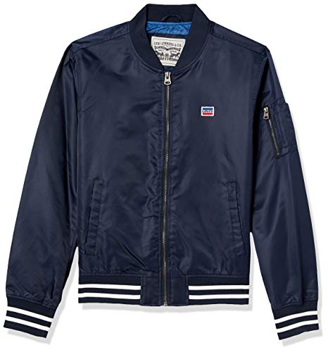 Levi's Men's Retro Varsity Bomber Jacket, Navy, Medium