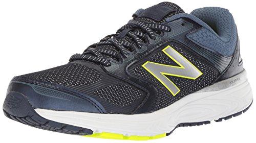 New Balance Men's 560v7 Cushioning Running Shoe, Navy, 12 4E US