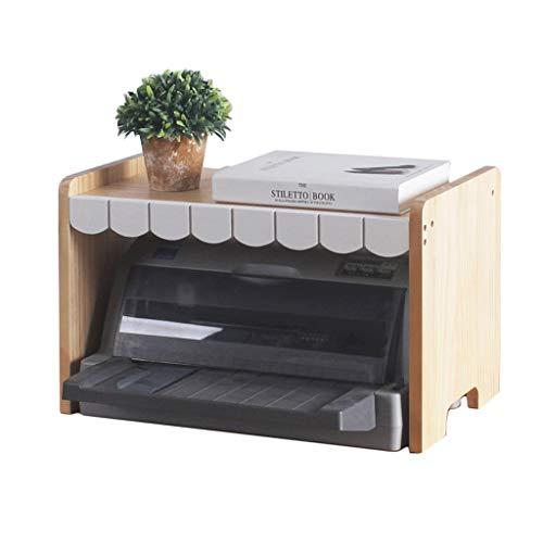 Solid Wood Printer Plank Desktop Tafel Opslag Plank Office Desktop Bestand Rack Meerdere lagen puin Opslag Rek Decoratie Dot Matrix Printer