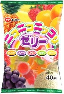 七尾製菓 ニコニコニッコリゼリー 40個×10袋 [1629]
