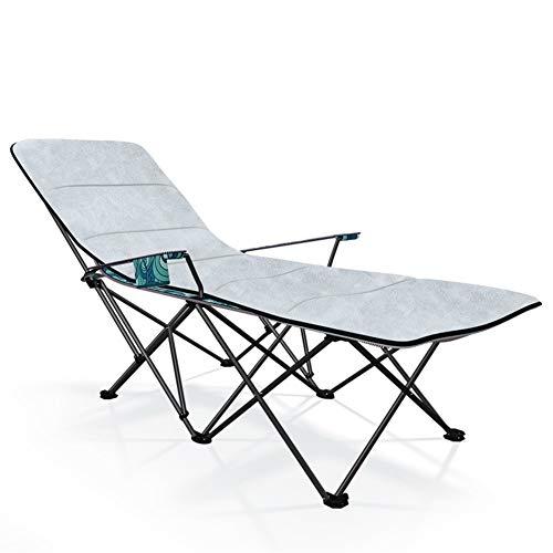 Portable al aire libre del metal reclinable Tumbona, plegable Tumbona, carga estática, resistente a la corrosión, con transpirable sintético Tela, 170 * 87 * 70 cm, 100 Kg Cojín Max gratuito extraíble