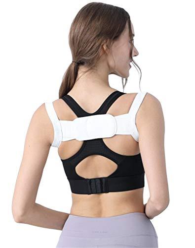 Brinny Haltungstrainer Posture Corrector Geradehalter zur Haltungskorrektur Rücken Schulter Rückenstütze für Eine Bessere körperhaltung Schultergurt für Damen Herren - Weiß