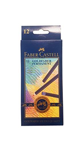 Faber-Castell Goldfaber–Box mit 12Buntstiften, Farben sortiert