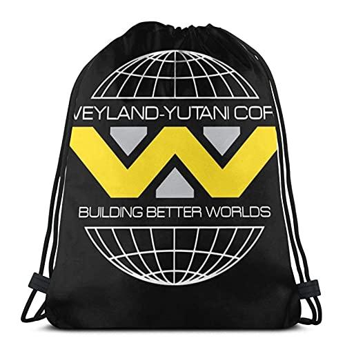 Bolsas con cordón Alien Weyland Yutani Corp Logo Unisex Mochila con cordón Bolsa de deporte Bolsa de cuerda Bolsa grande con cordón Bolsa de Gimnasio Mochila a granel
