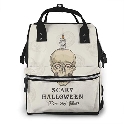 UUwant Sac à Dos à Couches pour Maman Happy Halloweentrick Or Treat Diaper Bags Large Capacity Diaper Backpack Travel Nappy Bags Mummy Backpackling