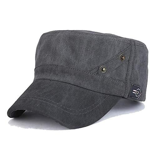 KCBYSS Männer und Frauen New Gewaschene Old Military Cap Einfache Cotton Flatcap Beiläufiges Hut (Color : 01, Size : 55-60CM)