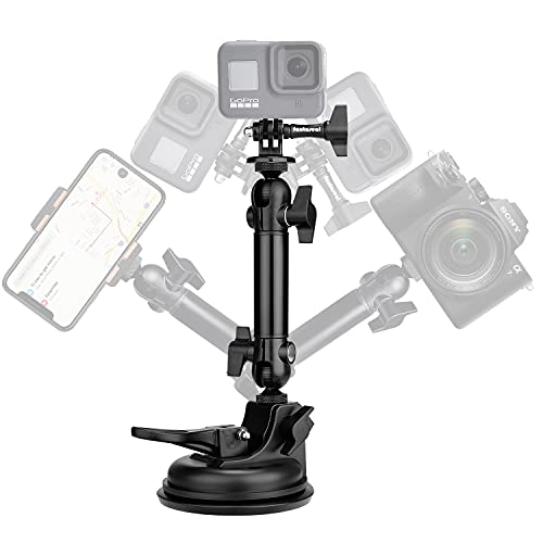 Action Camera Smartphone Super 90mm Vacuum Suction Cup Race Car Mount Holder Motion Camcorder Cab Cockpit Vehicle Windshield Hood Cab Rooftop Sunroof Window Door Mounts for GoPro Sony iPhone Hi-Speed