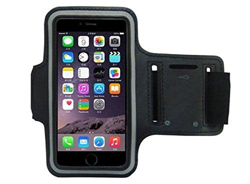 CoverKingz Sportarmband für Apple iPhone 8 Plus/iPhone 7 Plus - Armtasche mit Schlüsselfach iPhone 7 Plus/ 8 Plus - Sport Laufarmband Handy Armband Schwarz